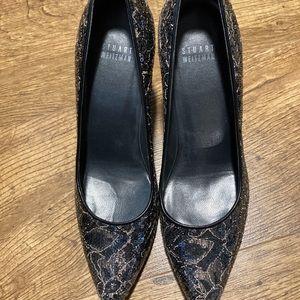 Stuart Weitzman sequin pointed toe heels